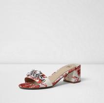 embellished heeled mules