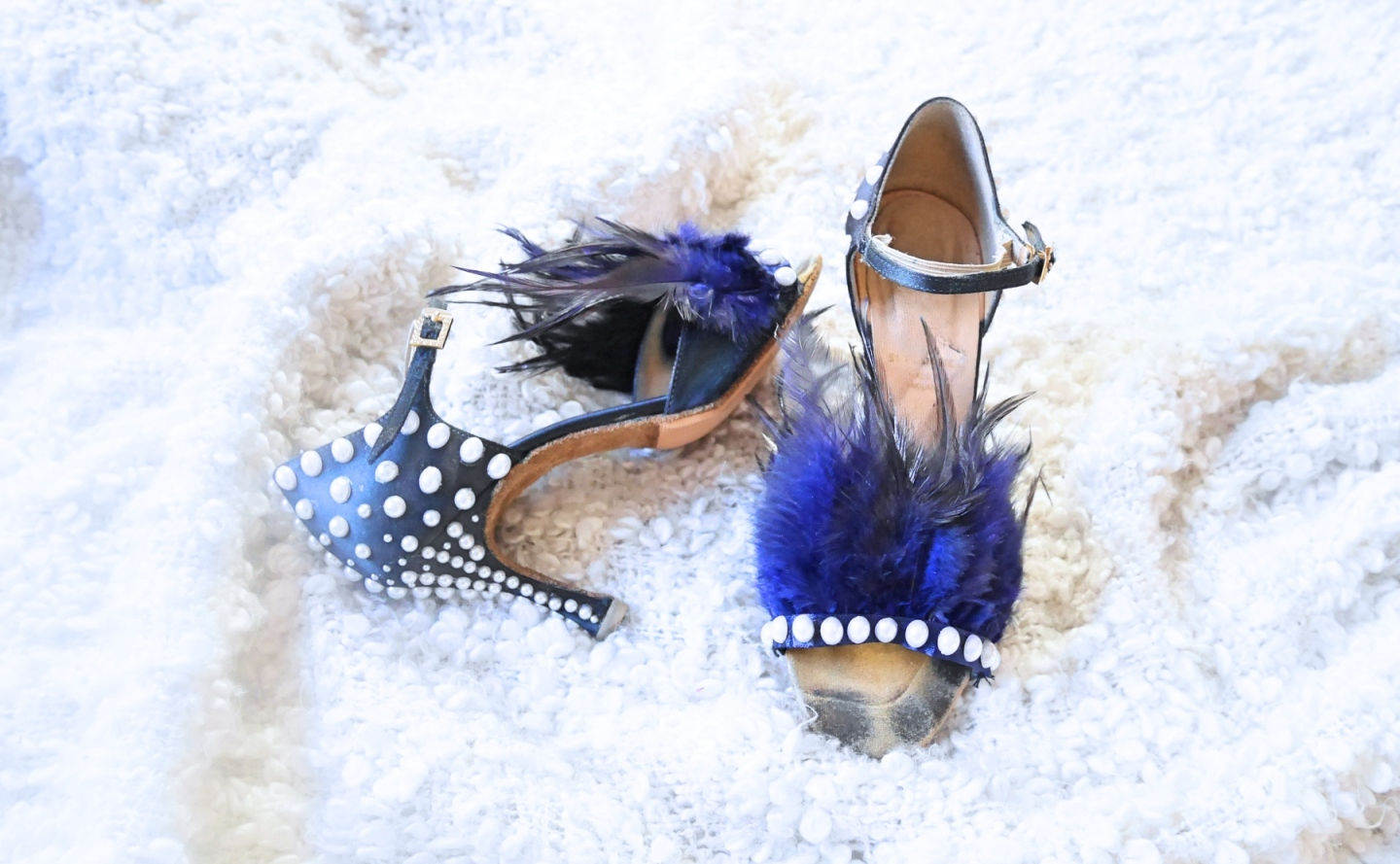 diy miu miu feather shoes