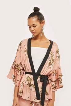 topshop frill kimono