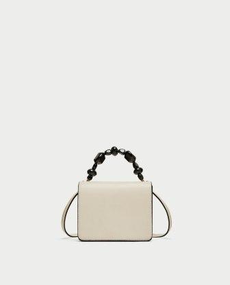 zara white bag 29,95