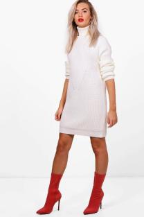 boohoo knit dress
