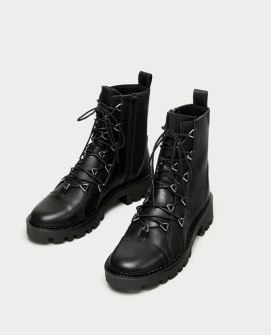 zara lace-up boots