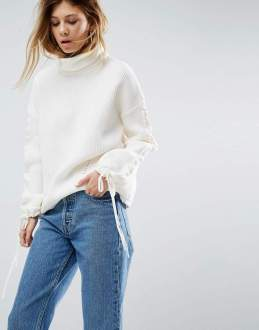 asos white jumper