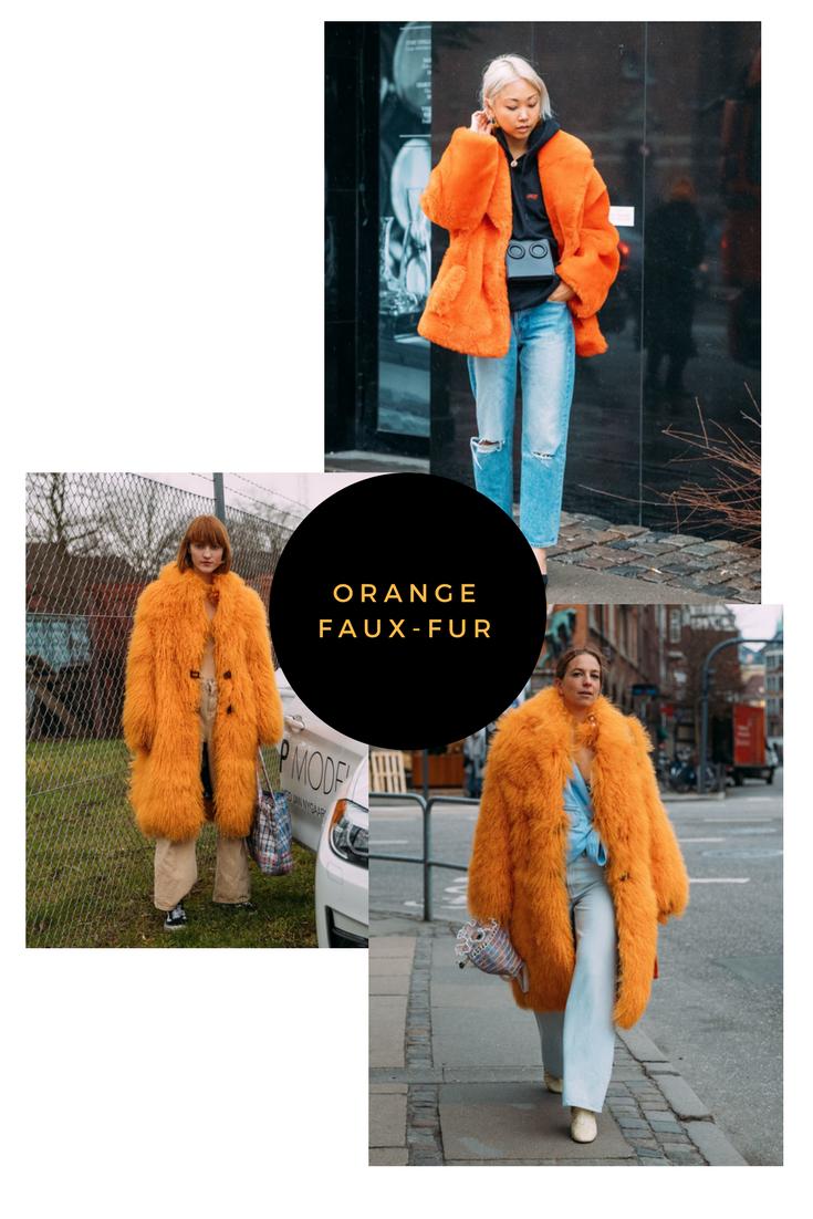 ORANGE FAUX-FUR styling ideas