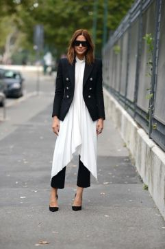 Fashiion Gone Rouge black and white layering