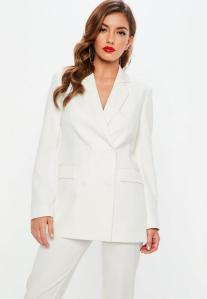 missguided white blazer
