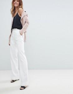 morgan white wide leg trousers