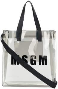 msgm sheer logo tote