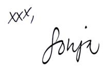 Sonja signature
