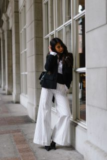 wide leg pants outfit via not your standard
