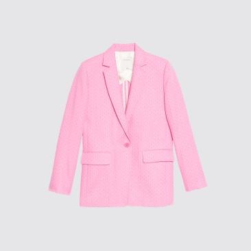 sandro pink blazer