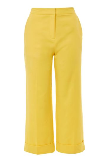 topshop yellow trousers