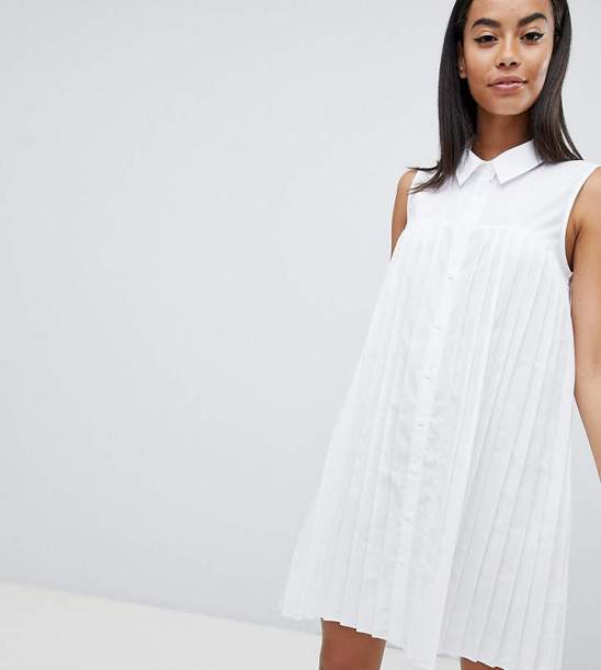 asos pleated shirt dress
