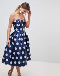 chi chi london polka dot dress