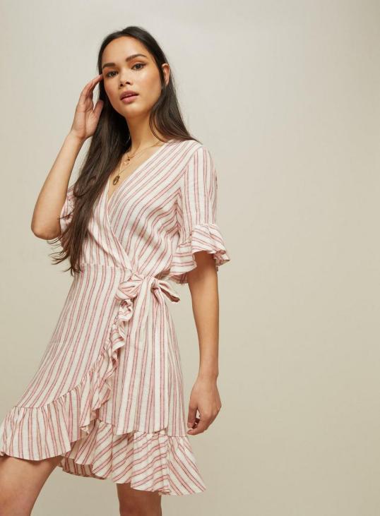 miss selfridge ruffle wrap dress