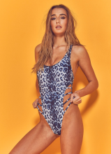wolf whistle leopard swimsuit