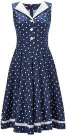 spot the curls vintage dress