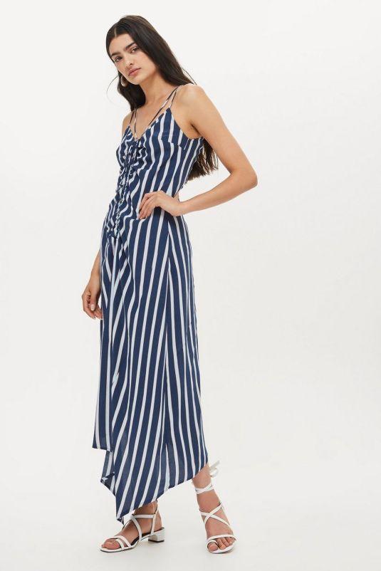 topshop ruched slip dress