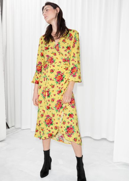 other stories ruffled wrap dress