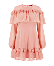 boohoo ruffle dress