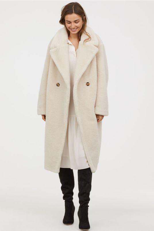 hm teddy coat