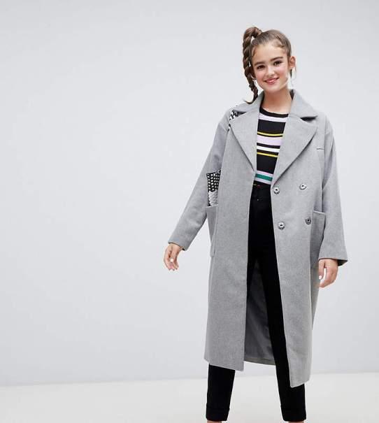 monki recycled wool coat