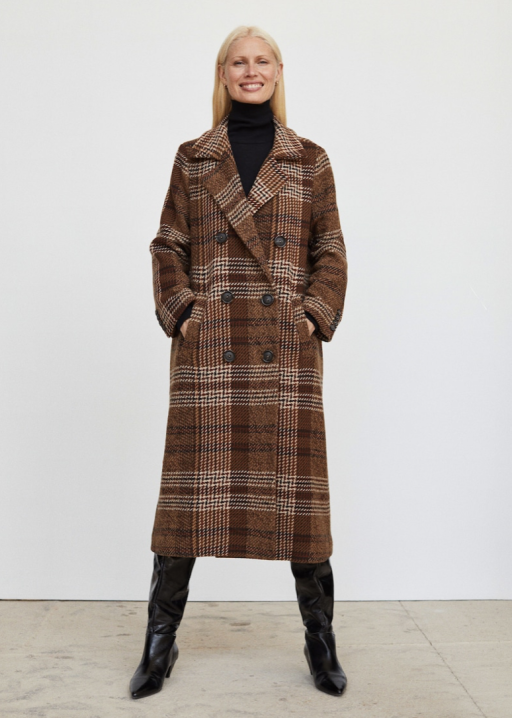 Mango recycled wool coat