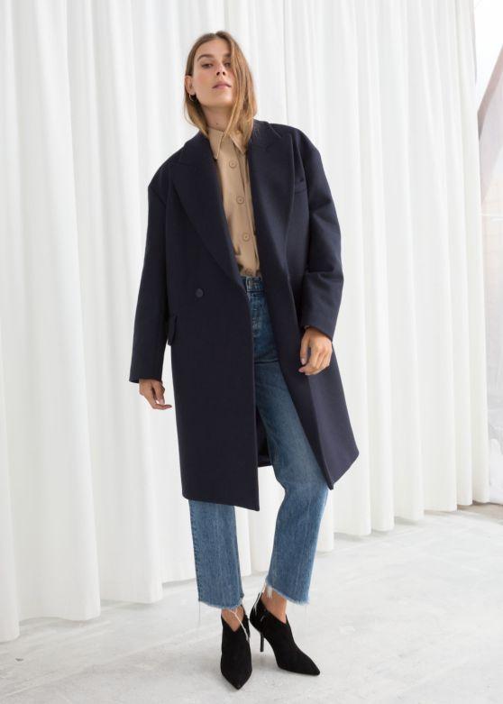 stories wool blend coat
