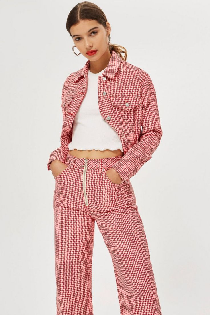 topshop dogtooth jeans