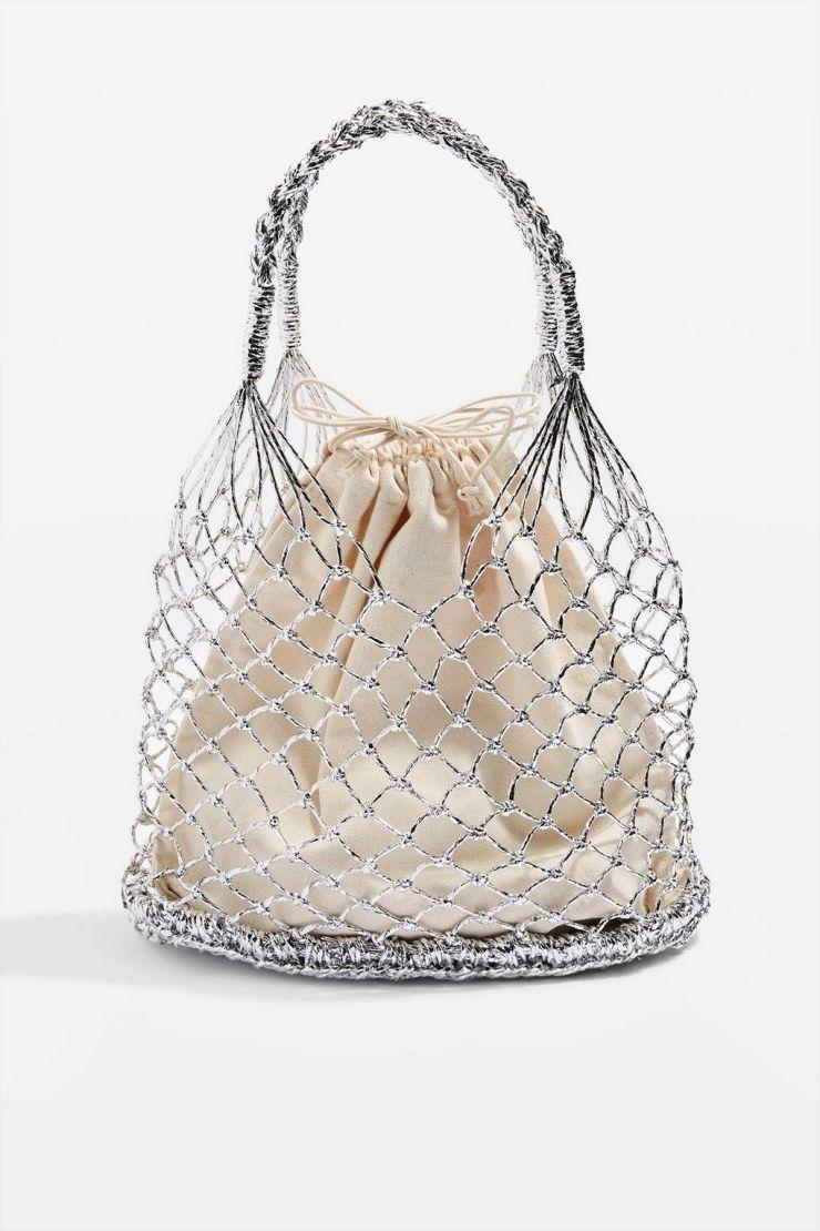 topshop woven shopping bag