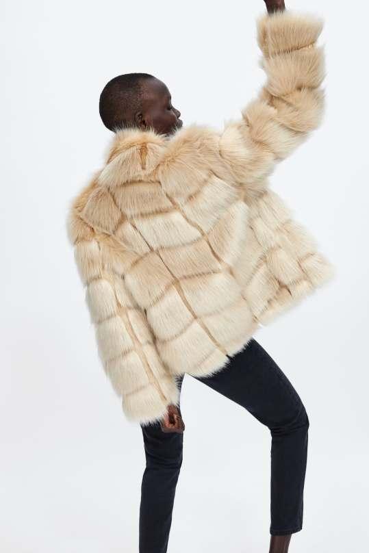 zara short faux fur