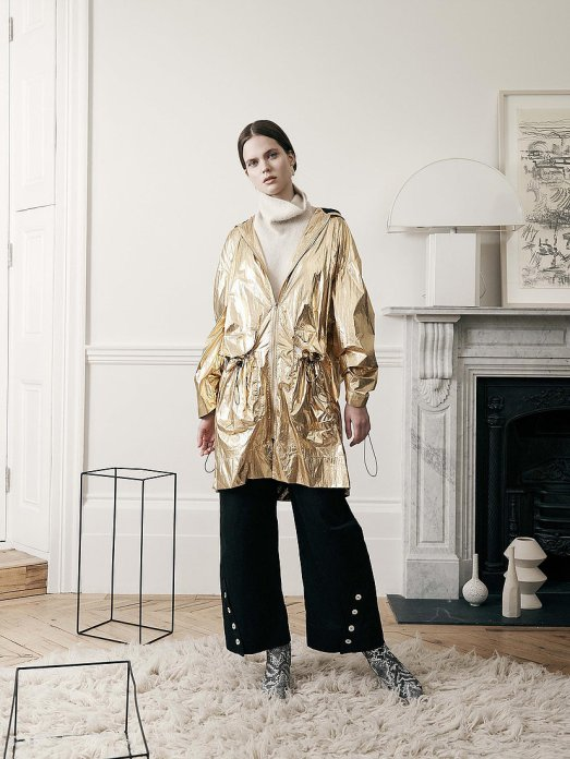 house of sunny metallic parka