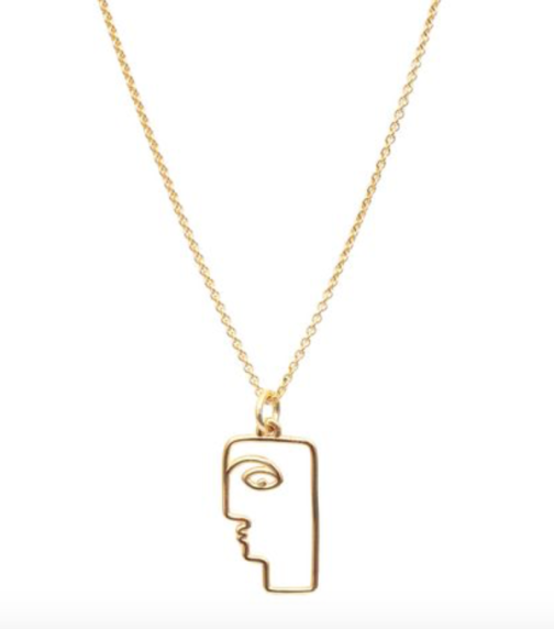 mini face necklace