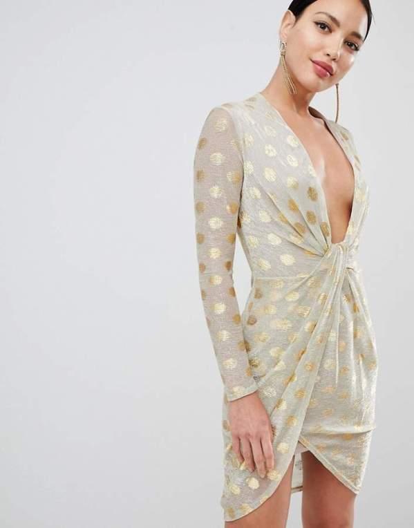 flounce london plunge dress