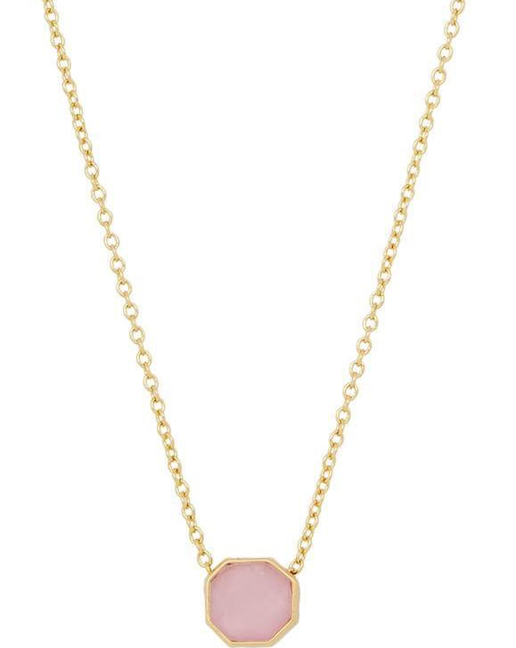 gorjana rose quartz necklace