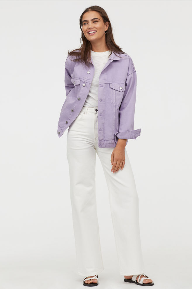 hm lavender jacket