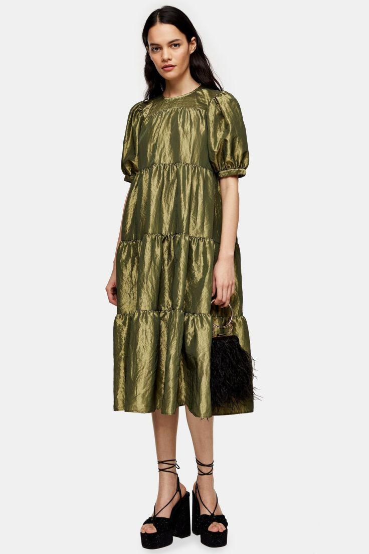 topshop taffeta dress