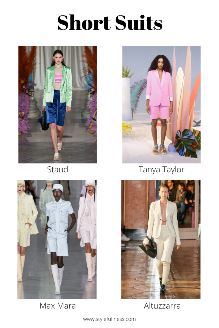 Spring Summer 2020 trend short suits